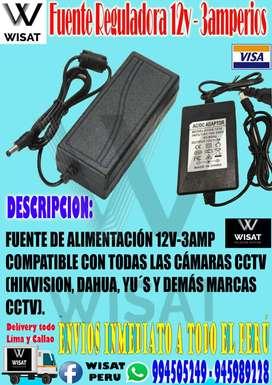 Fuente Reguladora 12v - 3amperios
