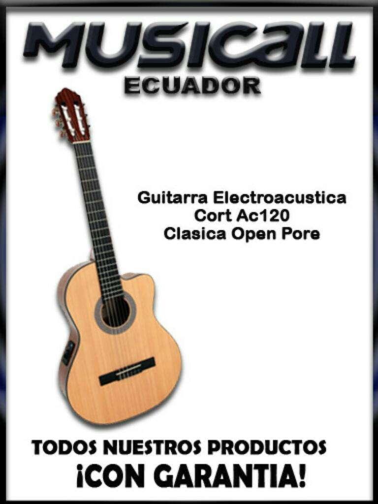 Guitarra Electroacustic Nylon Cort Ac120 0