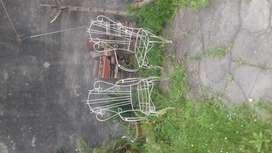 vendo 4 sillones de hierro