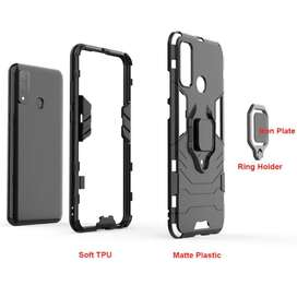 Estuche Antigolpes Huawei P Smart 2020 Con Anillo 360 Lujo