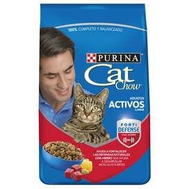 Cat Chow Carne 8 Kg Comida De Gato Adulto