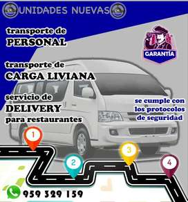 TRANSPORTE DE PERSONAL , MERCADERIA.