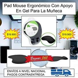 Pad Mouse Ergonómico Con Apoyo En Gel Para La Muñeca