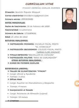BUSCO EMPLEO PORFAVOR