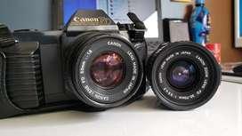 Camara Canon T50 rollo 35mm 2 lentes