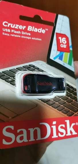 Memorias USB sandisk de 16gb