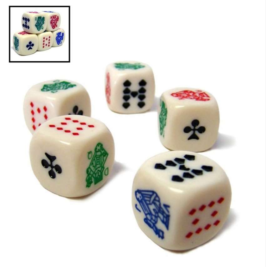 Dados Clásicos De Póker Para Cubilete X5 Unidades 0