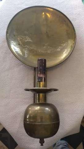 Antigua lámpara de pared de bronce portalámparas mignon