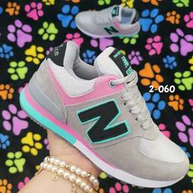 Zapato Tennis Deportivo New Balance Para Mujer