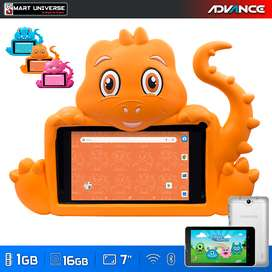 Tablet KID DINOTABLETS Android 7 Pulg 1GB 16GB WIFI OFERTA