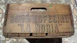 Antiguo Cajon Madera Soda 12 Sifones 750 La Noria Impecable