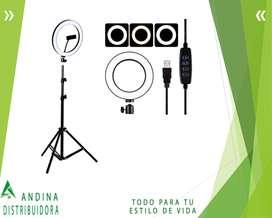 Aro De Luz Fotografico 10 Pulgadas Tripode + Control Remoto