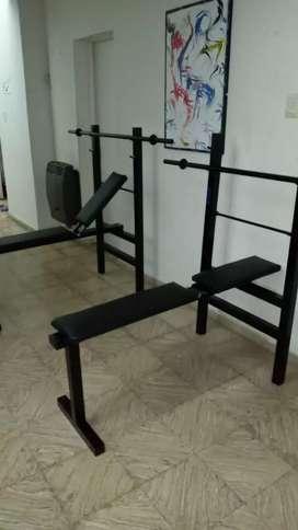 Banco para pesas con barra incluida SOMOS FABRICANTES