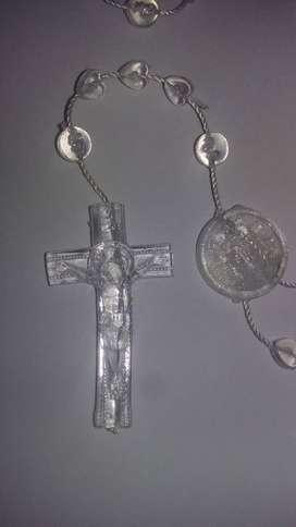 rosario corazones transparente