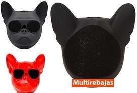 Parlante Bluetooth Bulldog Adorno Minimalista Elegante