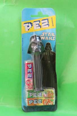 PEZ DARTH VADER BONBONS FIGURA ORIGINAL COLECCION STAR WARS LUCAS FILM TROOPER HASBRO KENNER THE POWER OF THE FORCE
