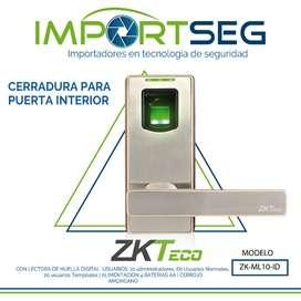 Cerradura Biométrica Inteligente Reco Huella-tarj Zk-ml10-id