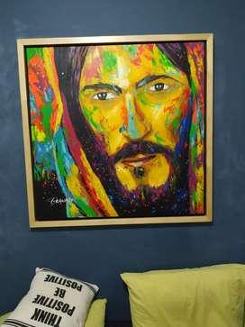 Rostro Jesús 1m x 1 m