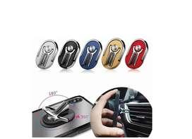Soporte Teléfono Celular Auto Multiuso Metal Anillo Dedo