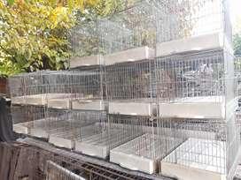 Jaulas usos varios palomas conejos cría pollitos patitos etc.