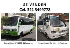 2 Busetas Nissan NPU  21Psj  2004 y 2006 - Negociables