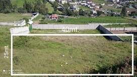 Terreno en Pifo 1000 m2