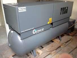 compresor ATLAS COPCO, OIL FREE, Ref. SF6 + Secador FX2