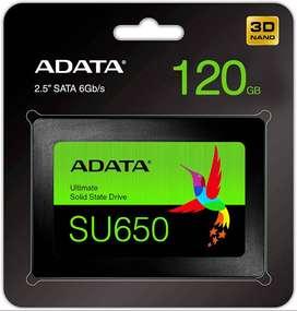 DISCO DE ESTADO SOLIDO SSD 120GB SU650 ADATA 3D SATA 2.5