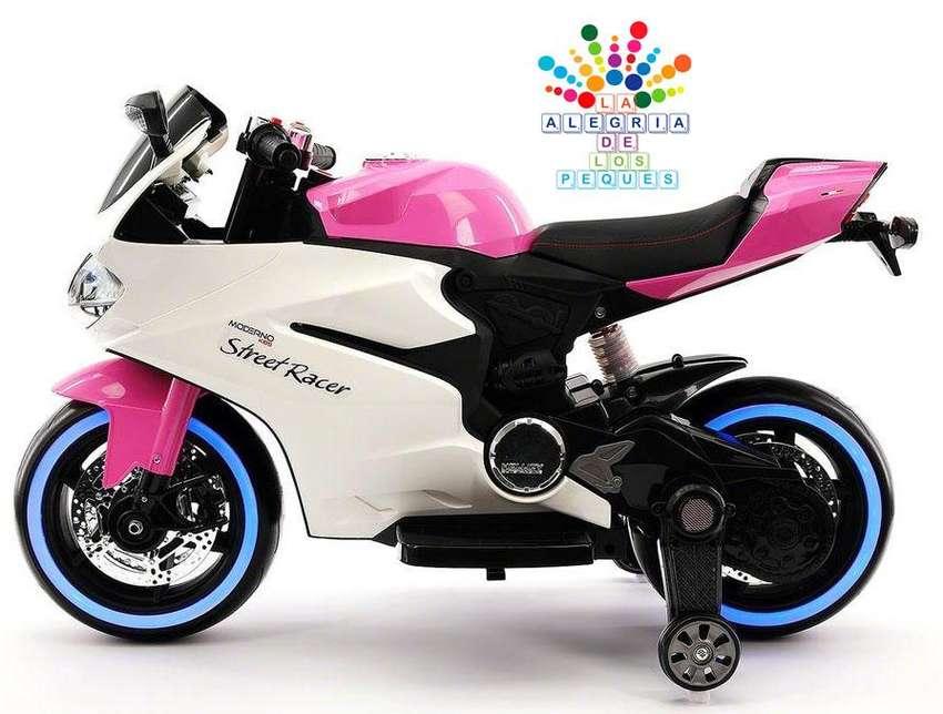 Moto A Batería Ducati / Usb Ds Mp3 Bluetooth Rosado Niñas 0