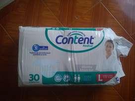 Pañales para adulto Content paquete x30U