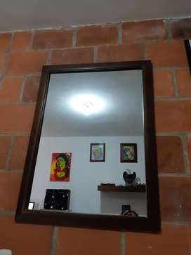 Espejo en Pino para Barberia, Peluqueria
