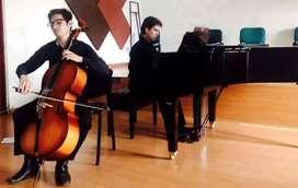 Clases virtuales, presenciales y semipresenciales de música: teoria, gramática, armonía, solfeo, violonchelo o guitarra