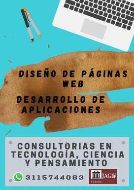 DISEÑO DE PAGINAS WEB Y DESARROLLO DE APLICACIONES PARA CELULAR