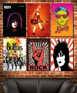 Afiches, Posters Personalizados Anime, Cine, Rock