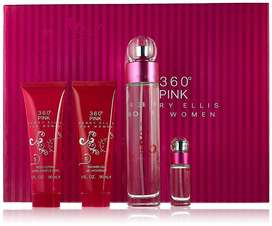 Estuche Perry Ellis 360 Pink for mujer 4pzs
