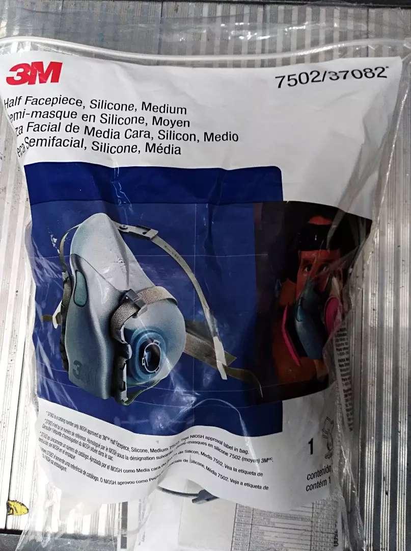 Respirador media cara 7502 con filtro p100 _7093 nuevos originales 0