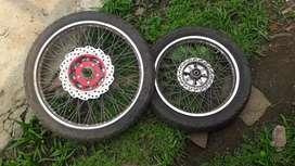 Vendo ruedas para moto 110