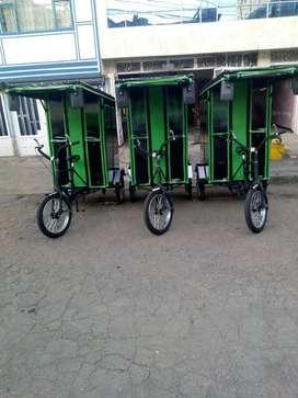 Fabricamos Bicitaxis Nuevos electricos y a pedal..