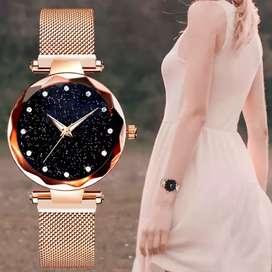 Relojes De Lujo Para Mujer, Magnético De Cielo Estrellado