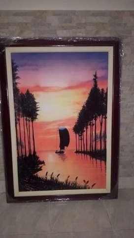 Pintura Paisaje en la Selva
