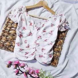 Blusas floreadas de chalis