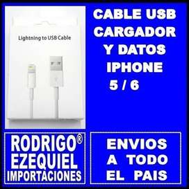 CABLE USB Y DATOS IPHONE 5 / 6 NUEVO IMPORTADO