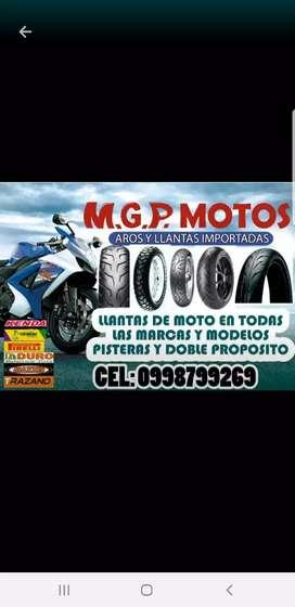Llantas de moto diversas marcas