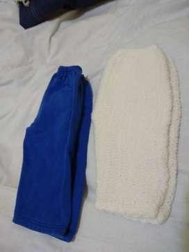 Pantalon 3m tejido blanco otro friza azul