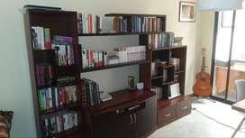 Centro Entretenimiento con librero