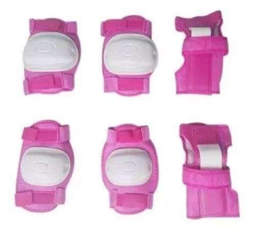 Kit De Proteccion De Patinaje Para Niña Rosado 0