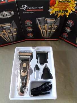 Máquina afeitadora, rasuradora, patillera 3 en 1