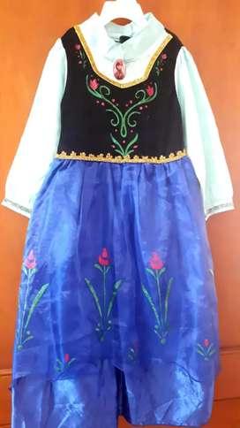 Disfraz para niña- Ana- frozen