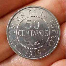 Bolivia 50 Centavos 2010 - Moneda