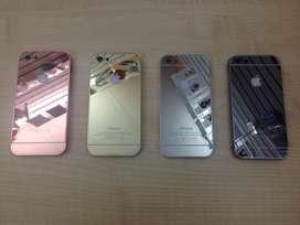 Elegante Funda Matte Y Espejo Marco Metal Tapa Acrilica iPhone 5C